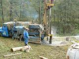 Budování vodovodních vrtů pro Hrachovice